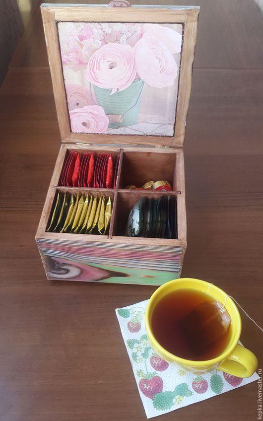 Шкатулки ручной работы. Шкатулка для чайных пакетиков