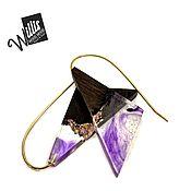 Украшения handmade. Livemaster - original item Earrings of black hornbeam and jewelry resin. Handmade.