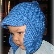 Работы для детей, ручной работы. Ярмарка Мастеров - ручная работа шапочка на мальчика с козырьком. Handmade.