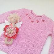 """Работы для детей, ручной работы. Ярмарка Мастеров - ручная работа Кофточка """"Розовая с сердечками"""". Handmade."""