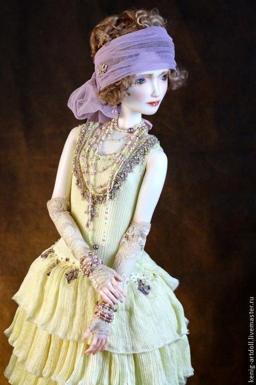 Коллекционные куклы ручной работы. Ярмарка Мастеров - ручная работа. Купить Mary. подвижная кукла из фарфора. Handmade. Лимонный