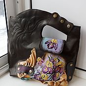 Сумки и аксессуары handmade. Livemaster - original item Women`s leather bag with painting to order for Oksana. Handmade.