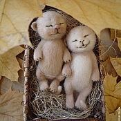 Куклы и игрушки ручной работы. Ярмарка Мастеров - ручная работа Котята валяные Пилюльки счастья)). Handmade.