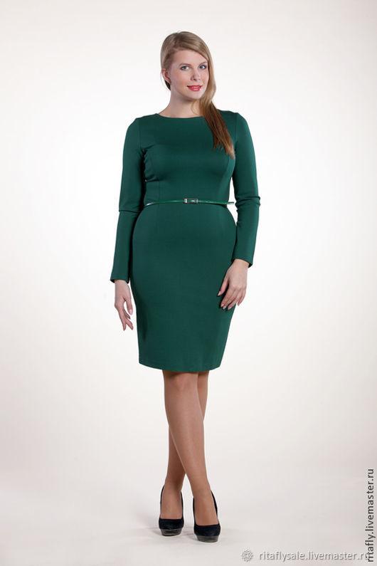 074: 46 и 50 размер - базовое платье футляр из джерси, Платья, Москва, Фото №1