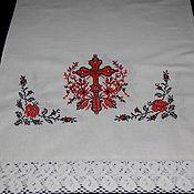 Русский стиль handmade. Livemaster - original item Linen towel bojnik