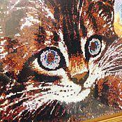 Картины и панно ручной работы. Ярмарка Мастеров - ручная работа Кот с искрящимися глазами. Handmade.