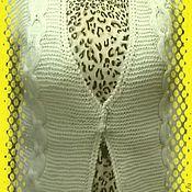 Одежда ручной работы. Ярмарка Мастеров - ручная работа Жилет вязанный белый. Handmade.