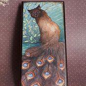 """Для дома и интерьера ручной работы. Ярмарка Мастеров - ручная работа Купюрница """"Самая красивая кошка"""". Handmade."""