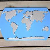 Куклы и игрушки handmade. Livemaster - original item World map educational puzzle made of wood. Handmade.