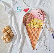 Одежда handmade. Livemaster - original item I love ice cream. Handmade.