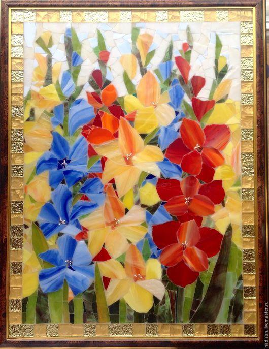 Стеклянная мозаика Надежды Стрелковой - солнечная мозаика!  Естественное освещение