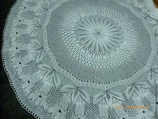 Текстиль, ковры ручной работы. Ярмарка Мастеров - ручная работа. Купить скатерть круглая. Handmade. Белый, красота