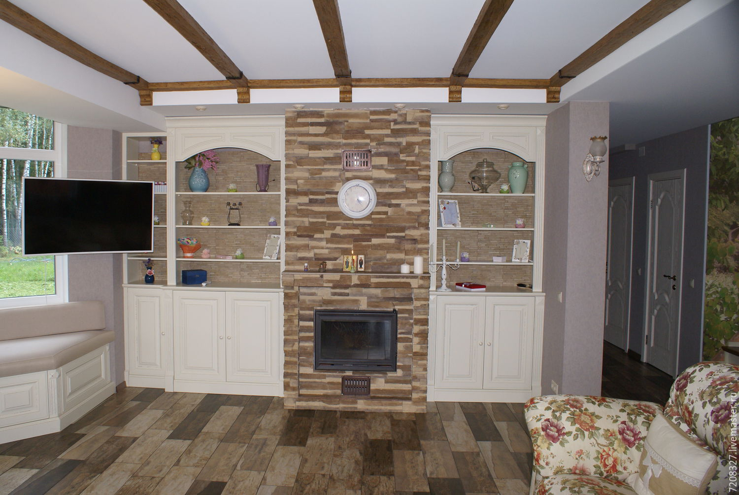 buy bookcase built in niche on livemaster online shop