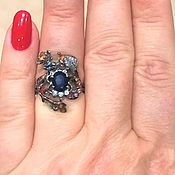 Украшения handmade. Livemaster - original item Handmade ring, multi-colored sapphires
