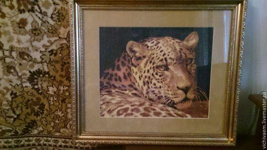 """Животные ручной работы. Ярмарка Мастеров - ручная работа. Купить Вышитая картина счетным крестиком """"Гепард"""". Handmade. Картина"""