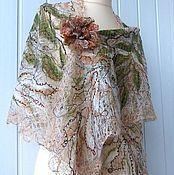 Шали ручной работы. Ярмарка Мастеров - ручная работа MARTINA-   Ажурная шаль. Handmade.