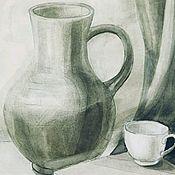 Картины ручной работы. Ярмарка Мастеров - ручная работа Натюрморт акварелью. Handmade.