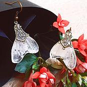 """Украшения ручной работы. Ярмарка Мастеров - ручная работа Серьги """"Бабочки"""" из настоящих цветов. Handmade."""
