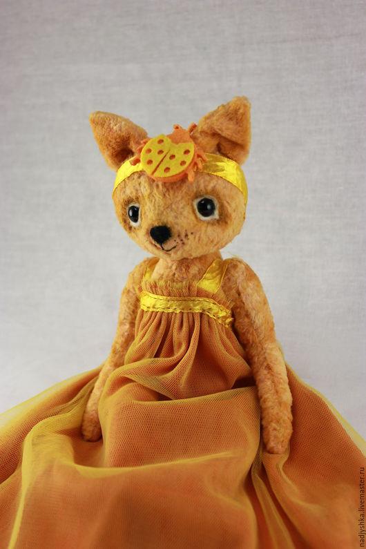 Мишки Тедди ручной работы. Ярмарка Мастеров - ручная работа. Купить Тедди Кошка Люся. Handmade. Оранжевый