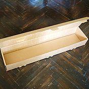 "Материалы для творчества ручной работы. Ярмарка Мастеров - ручная работа коробка ""Простая-17"" 79х17х10см  длинная узкая крафт картонная. Handmade."