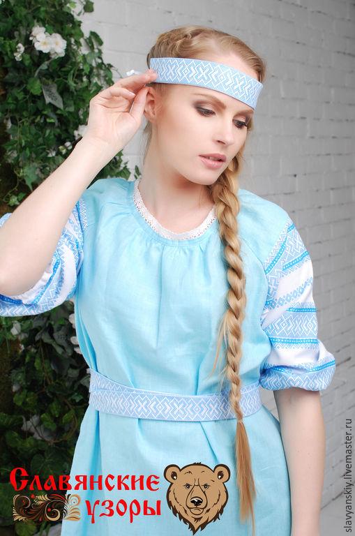 """Платья ручной работы. Ярмарка Мастеров - ручная работа. Купить Платье """"Нежность"""" миди. Handmade. Голубой, платье на заказ"""