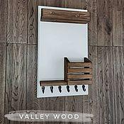 Для дома и интерьера handmade. Livemaster - original item key holder with shelf. Handmade.