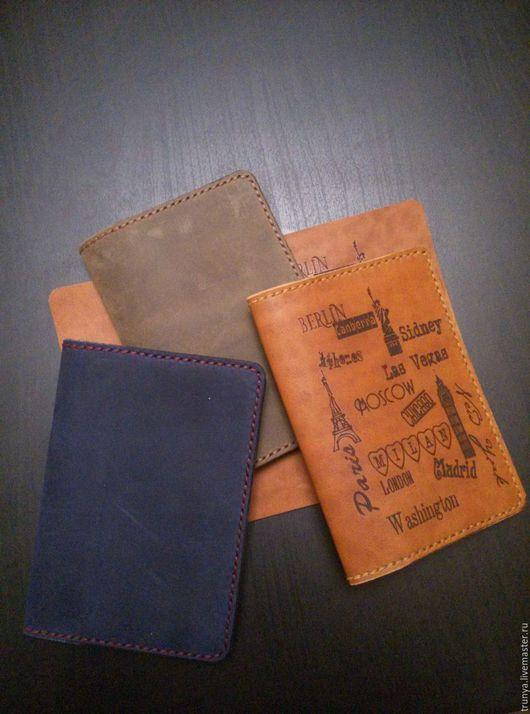 Обложки ручной работы. Ярмарка Мастеров - ручная работа. Купить Обложка для паспорта. Handmade. Чехол, обложка, обложка из кожи, город