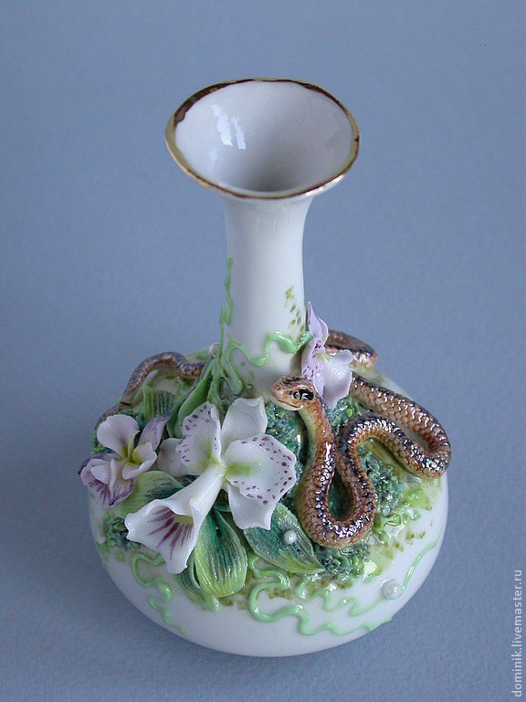 "Вазочка ""Орхидея и змея"""