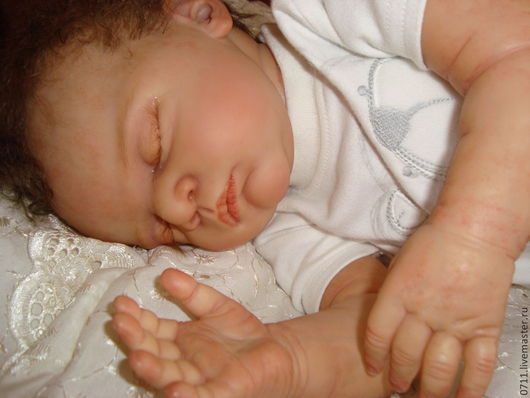 Куклы-младенцы и reborn ручной работы. Ярмарка Мастеров - ручная работа. Купить Сплюшечка Линус. Handmade. Бежевый, Стеклогранулят