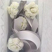 Браслеты ручной работы. Ярмарка Мастеров - ручная работа Браслеты для подружек невесты с серой лентой. Handmade.