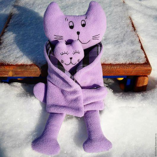 Игрушки животные, ручной работы. Ярмарка Мастеров - ручная работа. Купить Мягкая игрушка кошка с котенком. обнимашки). Handmade.