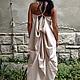 Платья ручной работы. Ярмарка Мастеров - ручная работа. Купить Экстравагантное асимметричное платье, пляжное, повседневное лененое. Handmade.