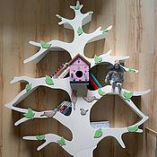 Для дома и интерьера ручной работы. Ярмарка Мастеров - ручная работа Белое дерево-стеллаж для детской комнаты 2. Handmade.