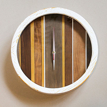 For home and interior handmade. Livemaster - original item Original large wall clock made of wood Autumn forest. Handmade.