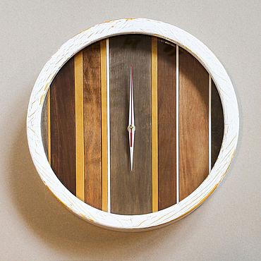 Для дома и интерьера ручной работы. Ярмарка Мастеров - ручная работа Оригинальные большие настенные часы из дерева Осенний лес. Handmade.