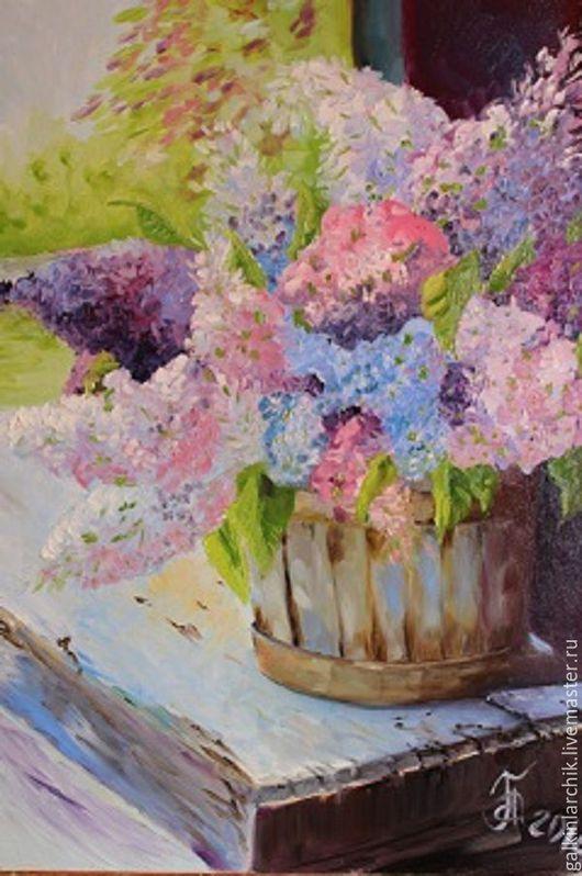 Картины цветов ручной работы. Ярмарка Мастеров - ручная работа. Купить Картина. Handmade. Картина для интерьера, натюрморт с сиренью