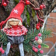 """Новый год 2017 ручной работы. Ярмарка Мастеров - ручная работа. Купить Новогоднее украшение """"Венок подарочный"""". Handmade. Ярко-красный"""