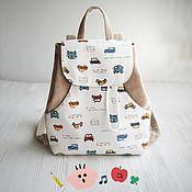 Работы для детей, ручной работы. Ярмарка Мастеров - ручная работа Детский рюкзак - Транспорт.. Handmade.