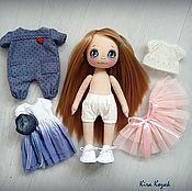 Куклы и игрушки ручной работы. Ярмарка Мастеров - ручная работа Кукла с набором одежды №8. Handmade.