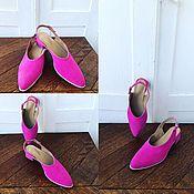 Slingbacks handmade. Livemaster - original item women`s sandals. Handmade.