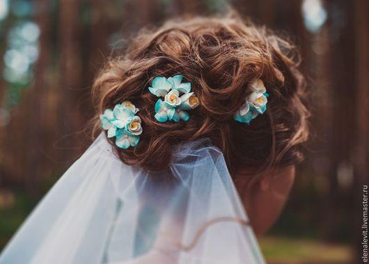 Цветы в прическу ручной работы.Terracotta by Elena Levit.