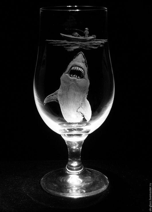 """Бокалы, стаканы ручной работы. Ярмарка Мастеров - ручная работа. Купить """"Рыбалка"""". Handmade. Подарок мужчине, подарок друзьям, рыбалка"""