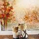 Мишки Тедди ручной работы. Доверие.... Оля Белозёрова. Ярмарка Мастеров. Осень, вязаная игрушка, коллекционная игрушка, папа и сын