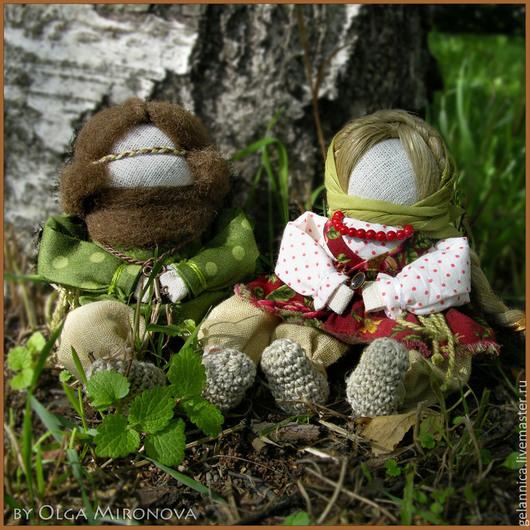 Народные куклы ручной работы. Ярмарка Мастеров - ручная работа. Купить Храмовеюшки. Handmade. Оберег, народная кукла, домовенок, хлопок