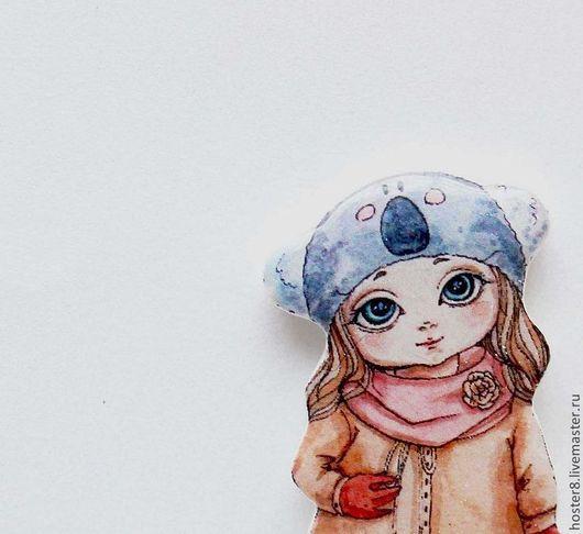 """Броши ручной работы. Ярмарка Мастеров - ручная работа. Купить Брошь """"Милая девочка"""" (0088). Handmade. Голубой, броши, девочке"""