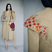 Одежда handmade. Livemaster - original item Fall suit with hand embroidery