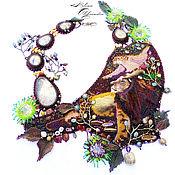 Украшения ручной работы. Ярмарка Мастеров - ручная работа Африканские украшения, картина Африка, лев и львица,семья Panthera leo. Handmade.