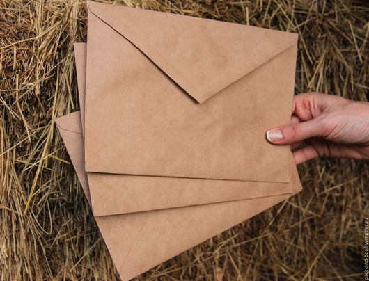 Упаковка ручной работы. Ярмарка Мастеров - ручная работа. Купить Крафт-конверты С5, С6 (162x229 мм, 114х162 мм). Handmade.