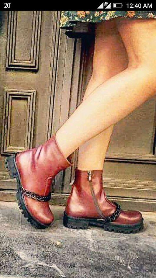 """Обувь ручной работы. Ярмарка Мастеров - ручная работа. Купить Женские ботинки, модель """"байкер"""". Handmade. Женская обувь"""