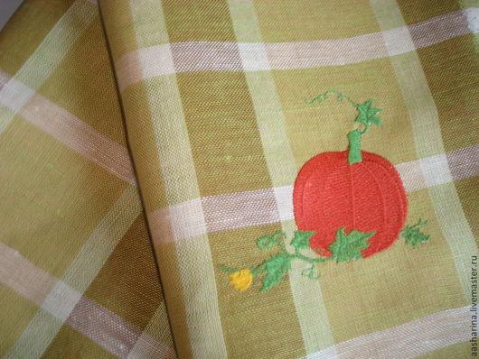 """Кухня ручной работы. Ярмарка Мастеров - ручная работа. Купить Кухонное полотенце с вышивкой """"Тыква"""". Handmade. Кухня, вышивка"""